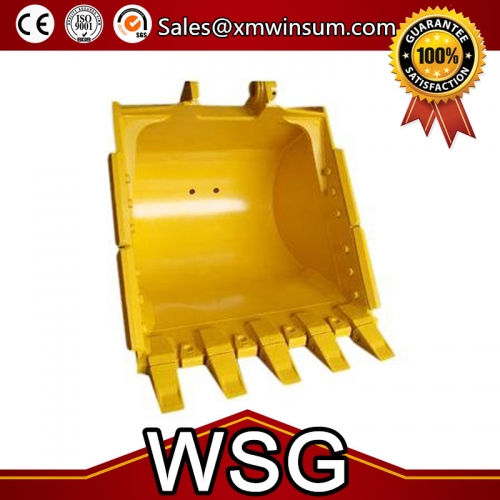 Komatsu PC200-3 Excavator Rock Bucket Type Spare Parts With Teeth